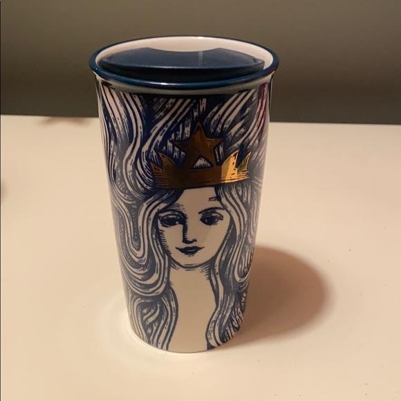 Starbucks 2016 Blue and Gold Mermaid Anniversary